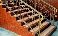 Кованые ограждения лестниц № 208