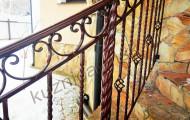 Перила уличные с декоративными элементами
