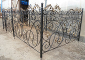 Ритуальная ограда кованая