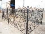 Ритуальная ограда после покраски