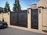 3D дизайн кованых ворот и калитки