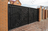 Ворота кованые черные