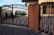 Ворота и калитка кованые