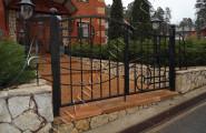 Ворота кованые вход на территорию