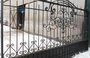 Ворота кованые после производства