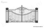 Эскиз ворот кованых №13