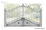 Эскиз кованых ворот №15