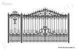 Эскиз кованых ворот №18