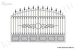 Эскиз кованых ворот №19