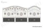 Эскиз ворот кованых №22