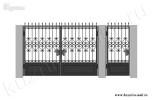 Эскиз кованых ворот и калитки №23