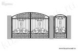 Эскиз кованых ворот и калитки №25