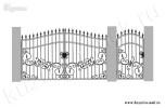 Эскиз кованых ворот и калитки №29