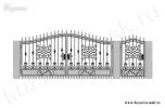 Эскиз кованых ворот и калитки №30