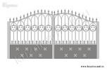 Эскиз кованых ворот №33