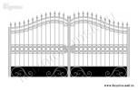 Эскиз кованых ворот №35