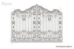 Эскиз кованых ворот №36