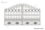 Эскиз кованых ворот №38