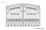 Эскиз кованых ворот №39
