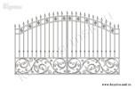 Эскиз кованых ворот №40