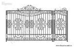 Эскиз кованых ворот и калитки №41