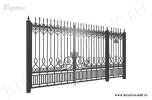 Эскиз кованых ворот и калитки №44