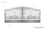 Эскиз кованых ворот №46
