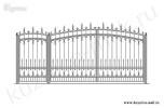 Эскиз кованых ворот и калитки №46