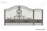 Эскиз кованых ворот и калитки №47