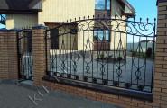 Забор и калитка кованые